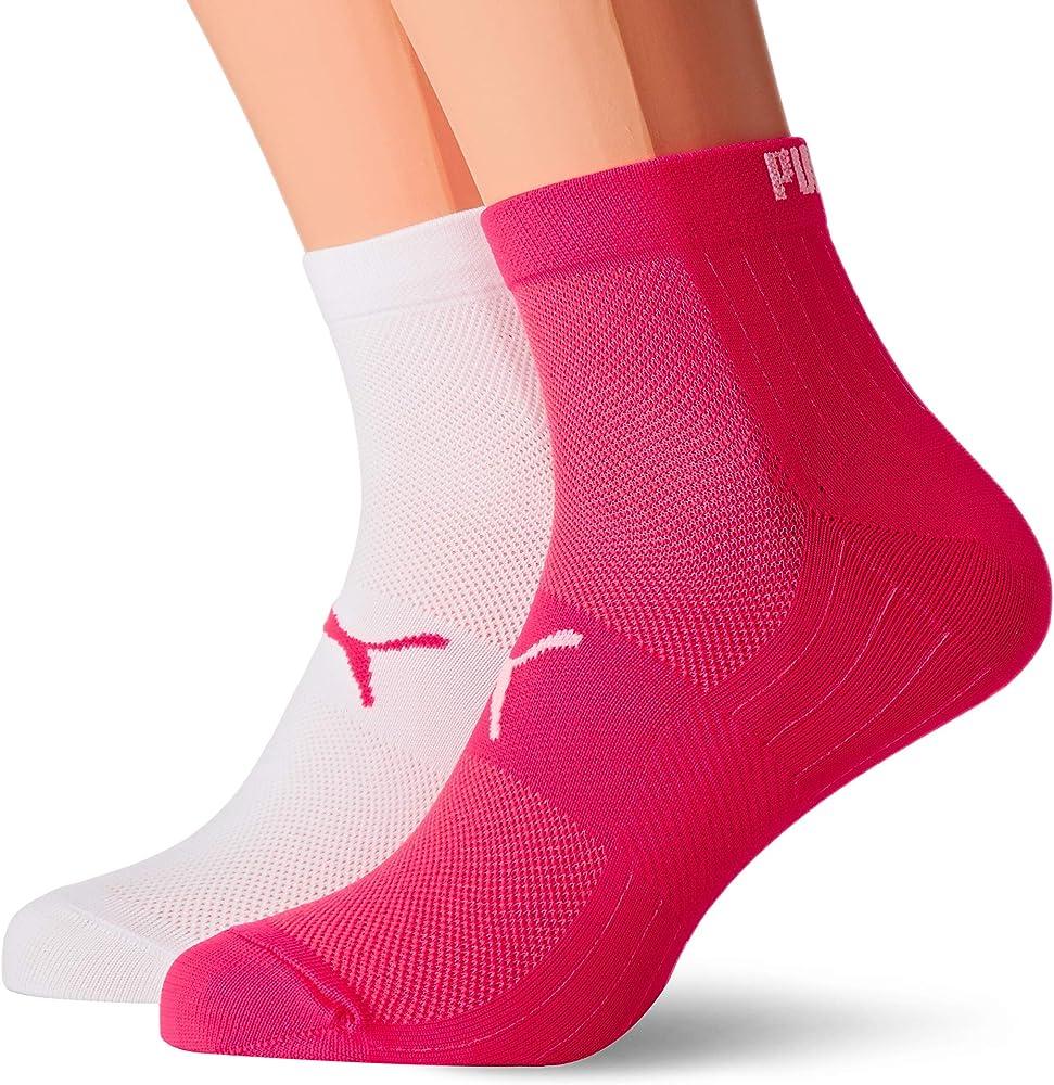 Puma,2 paia di calzini unisex,in microfibra,95% poliammide, 5% elastan 2910030012