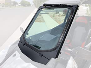 Polaris RS1 Glass Windshield with Vent and Wiper, BIllet Mounts (Black)