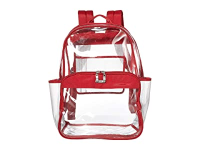 Baggallini Clear Event Compliant Large Backpack (Red) Backpack Bags