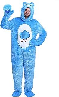 Adult Care Bears Classic Grumpy Bear Costume Grumpy Bear Onesie Suit for Men and Women