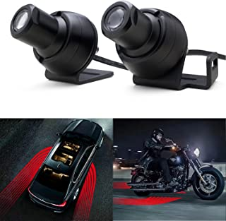 WEISIJI LED Welcome Light Carpet, R3 Ghost Shadow Light Angel Wings Light with Cree Chips LED Rock Light Underglow Light Car Door Exterior Light Ground Lamps for All Cars and Motorcycles(2Pcs Red)