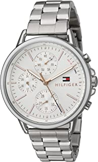 Tommy Hilfiger Women's Casual Sport Quartz Watch with Stainless-Steel Strap, Silver, 18 (Model: 1781787)