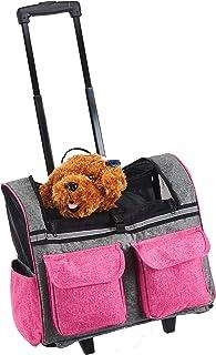 Maxmer Transportín Perro Carrito de Mascotas Capazo Perro Mochila Gatos para Línea Aérea