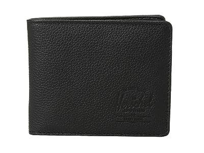 Herschel Supply Co. Hank Leather RFID (Black Pebbled Leather 1) Wallet Handbags