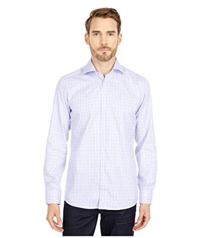 Eton Slim Fit Bold Medallion Print Shirt (Blue/Purple) Men