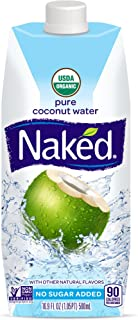 Naked Juice 100% Organic Pure Coconut Water, 16.9 Ounce, 12 Pack
