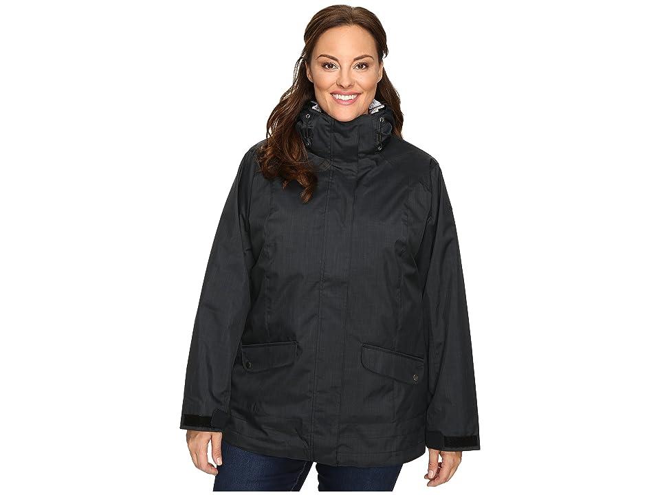 Columbia Plus Size Sleet to Street Interchange Jacket (Black) Women