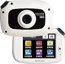 TCL ドライブレコーダー スマートレコ WHSR-510 白色 駐車監視 タッチパネル フルHD 音声案内 16GBmicroSDカード付 前後カメラ GPS オプション対応