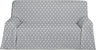 Martina Home Candy Star Foulard Multiusos, Tela, Gris, 130 x
