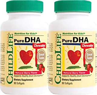 Child Life 2Piece Pure DHA Soft Gel Capsules Supplements, 180Count