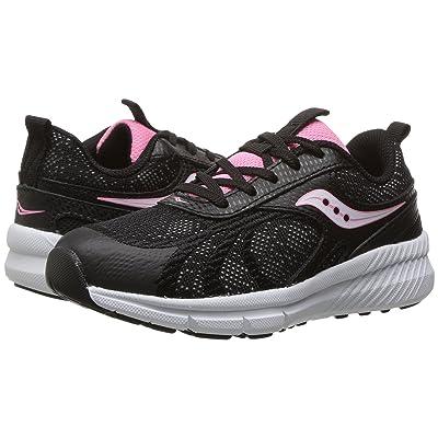Saucony Kids Velocity (Little Kid) (Black) Girls Shoes