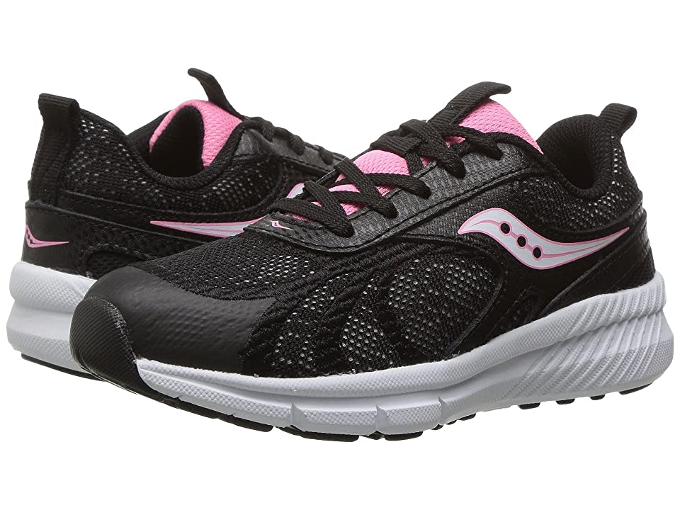 Saucony Kids Velocity (Little Kid) (Black) Girls Shoes