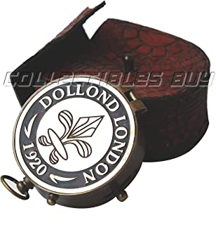 Collectibles Buy Maritime Brass & Copper Compass Dollond London 1920 With Leather Case Nautical Pocket Gift Direction Finder Magnetic Marine Sailor Instrument