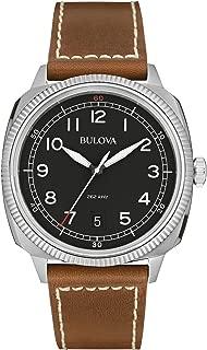 96B230 Mens Military UHF Black Brown Watch