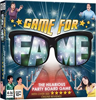 GAME FOR FAME THE HILARIOUS PARTY BOARDGAME