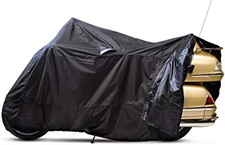 Dowco Guardian 50021-00 WeatherAll Plus Indoor/Outdoor Waterproof Motorcycle Cover, EZ Zip: Black, XX-Large