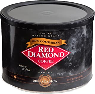Red Diamond 100% Colombian Blend Ground Coffee, 22 Ounce Can