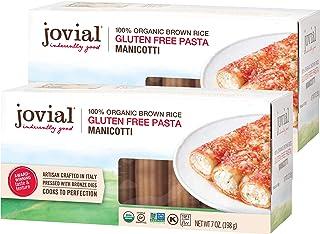 Jovial Manicotti Gluten-Free Pasta | Whole Grain Brown Rice Manicotti Pasta | Non-GMO | Lower Carb | Kosher | USDA Certifi...
