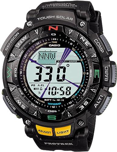 Reloj Casio Protrek Triple Sensor Tough Solar 2-Tier LCD Modelo Prg-240-1  Reloj para hombre : Ropa, Zapatos y Joyería - Amazon.com