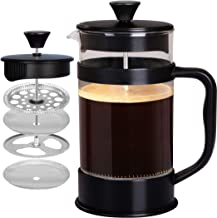 Utopia Kitchen French Coffee Press (32 Oz/1000 ml about 4 cups)-Espresso and Tea Maker with Triple Filters, Stainless Stee...