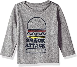 Gymboree Baby Boys Long Sleeve Basic Tee, Snack Attack, 3-6 Mo