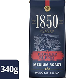 Folgers, 1850 Pioneer Blend, Whole Bean Coffee, 340g/12oz., {Imported from Canada}