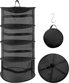 Byzy 4 Layer/ 8 Layer Folding Hanging Mesh with Buckle,Drying Rack Net Collapsible Hanging Drying Net with Zipper for Shri...