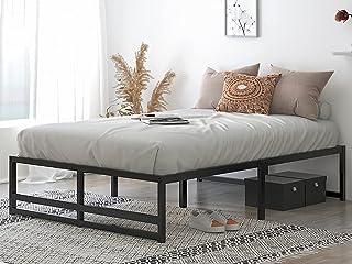 "Allewie Queen Size Metal Platform Bed Frame with 14"" Under Bed Storage, Strong Wooden Slats Support, Mattress Foundation, ..."