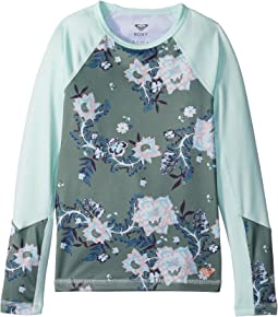 Leon Girl Long Sleeve Rashguard Top (Big Kids)