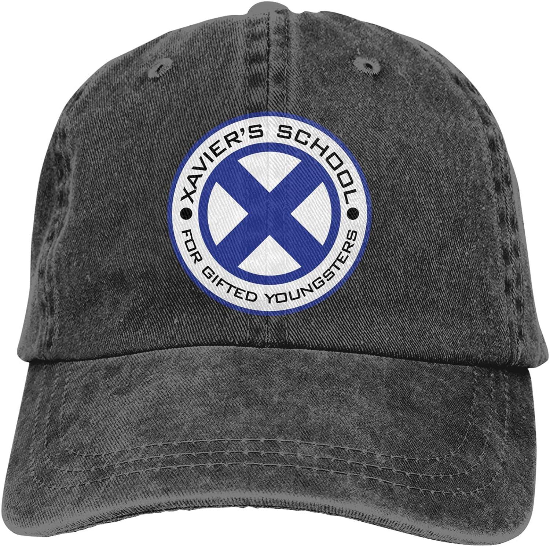 DFKJDSG Xmen Xaviers School Logo Trucks Cotton Hat Cowboy Hat Baseball Caps Black