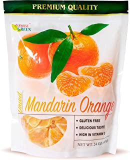 Paradise Green - Dried Mandarin Oranges 24oz - Sweet Dehydrated Mandarin Orange Sun Dried In Nature, Vegan (Kosher Certified), Dairy Free, 1.5 LBS