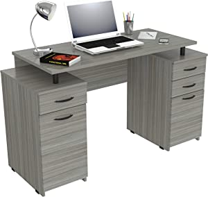 Inval Computer Desk, Smoke Oak