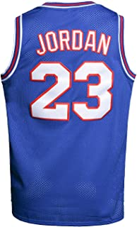 Youth Basketball Jersey Moive #23 Space Jam Shirts for Kids