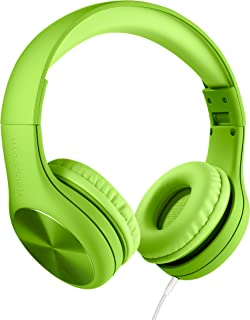 New! LilGadgets Connect+ PRO Kids Premium Volume Limited Wired Headphones with SharePort and Inline Microphone (Children) - Green