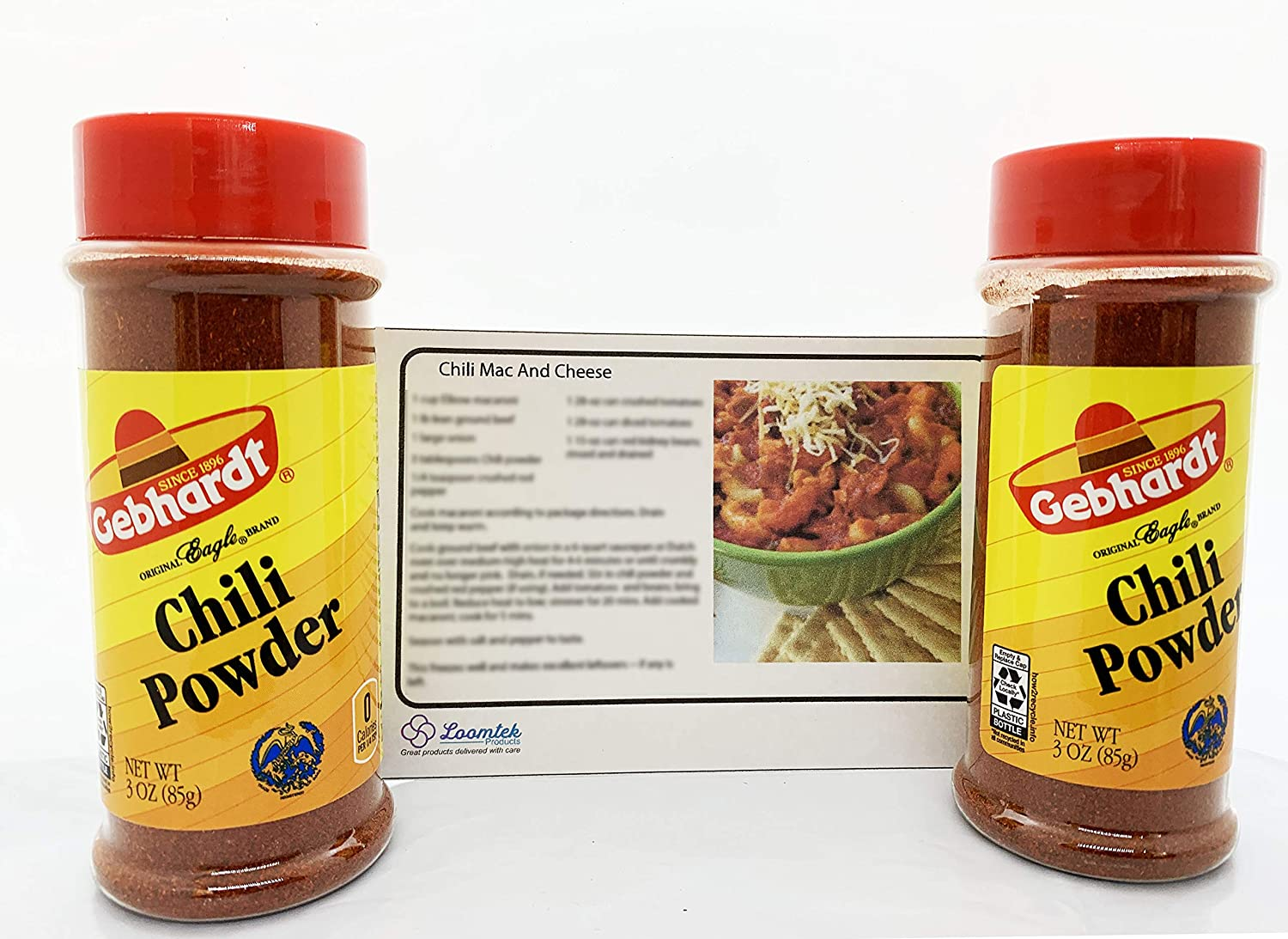 Gebhardt Chili All items free shipping Powder 3 ounces Al sold out. OF 2 - PACK