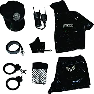 Women Police Costume Dirty Cop Halloween Outfit