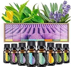 Essential Oils Set TOP 8 – Therapeutic Grade Aromatherapy Essential Oils –..