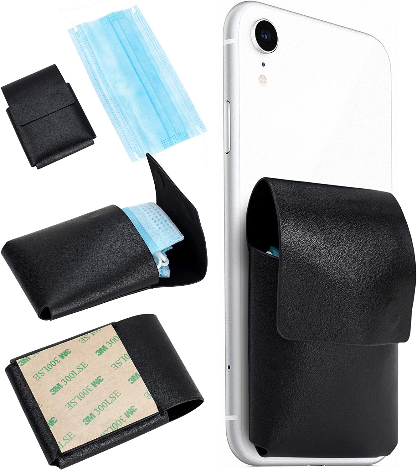 Portable Face Mask Case Max 79% OFF Leather It is very popular - Holder Bag