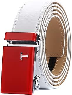 Belt Mens Leather Ratchet Belt with Automatic 40mm Buckle