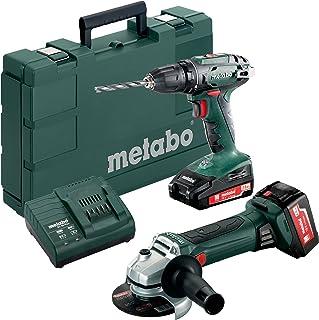 Metabo Akkuset Kunststoffkoffer Battery Combo Set 2.4.3 18 V (685082000) BS W 18 LTX 125 Quick Plastic Case, Multicoloure...