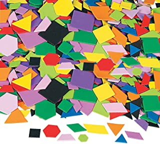 Fun Express - Mosaic Geometric Foam Adhesive Shapes - Craft Supplies - Foam Shapes - Regular - 1000 Pieces