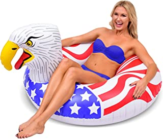 GoFloats American Screaming Eagle Pool Float Party Tube | The Most Patriotic Float Ever (for Adults and Kids)