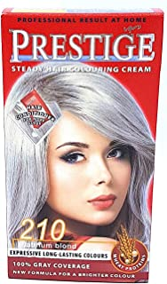 Vip's prestige crema colorante para el cabello, color rubio platino 210