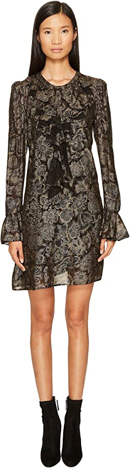 Just Cavalli - Long Sleeve Metallic Print Dress