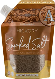 SaltWorks Durango Hickory Smoked Sea Salt, Artisan Pour-Spout Pouch, 8 Ounce