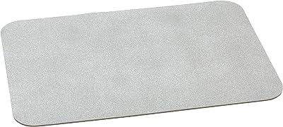 シービージャパン バスマット 珪藻土 配合 抗菌 60×40cm グレー 3層構造 ソフトタイプ FLOW
