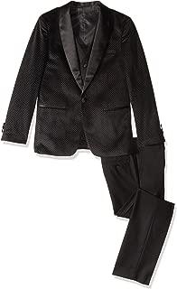 Boy's 3-Piece (Jacket Vest Trousers) Satin Shawl Collar Formal Tuxedo Suit Set