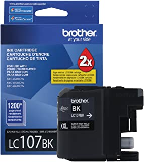 $24 » Brother Printer LC107BK Super High Yield Cartridge Ink, Black