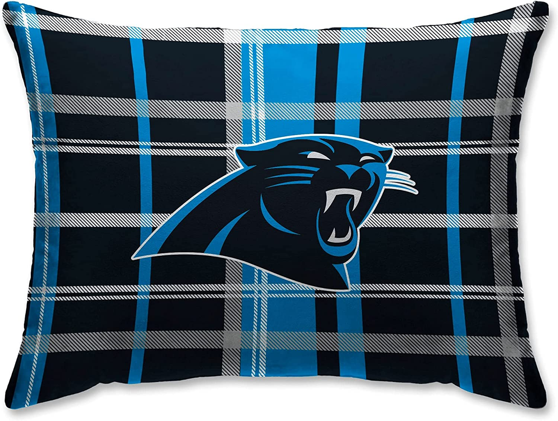Pegasus Home Fashions Carolina Panthers Plaid Plush Bed Sherpa Finally popular brand P Overseas parallel import regular item