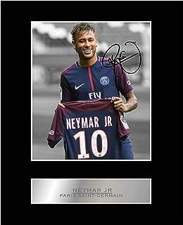 iconic pics Neymar Jr Signed Mounted Photo Display Paris Saint-Germain FC